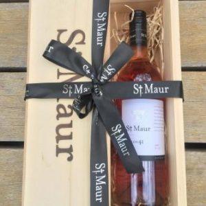 St Maur single bottle gift box